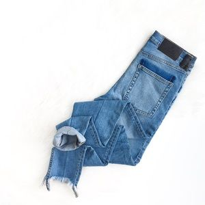 Cheap Monday | super skinny frayed highrise jeans